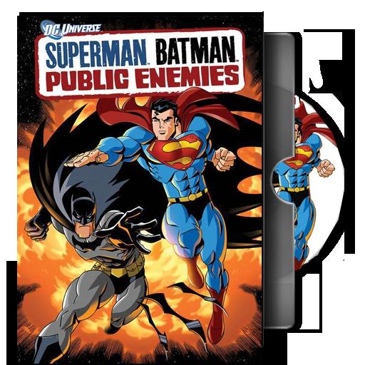 Dvd Folder Icon Superman Batman Public Enemies From Dc Universe