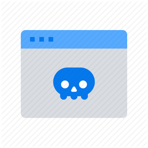 Infected, Skull, Virus, Webpage Icon
