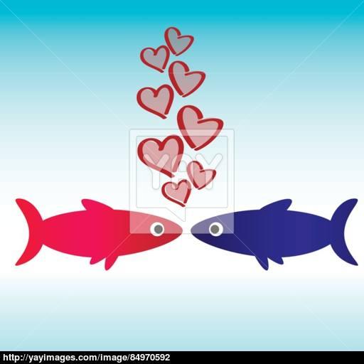 Fish Icon Love Wallpaper Vector
