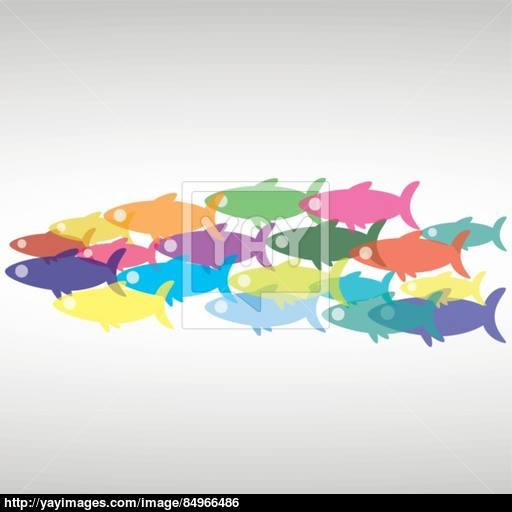 Vector School Of Fish, The Icon Vector