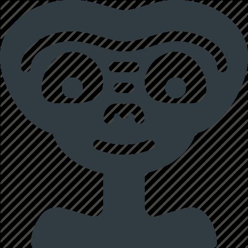 Alien, E, Et, Space, T, Ufo, Visitor Icon