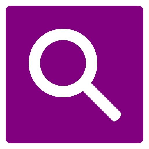 Search Icon Purple