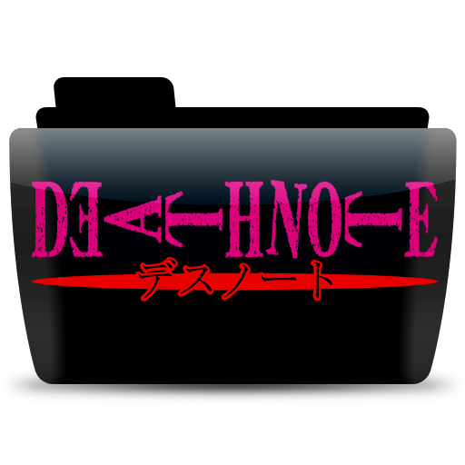 Deathnote Text, Folder, Icon Free Of Colorflow Icons