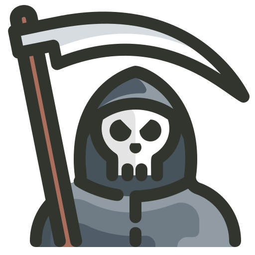 Death, Grim, Reaper Icon Free Of Halloween