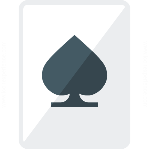 Iconexperience G Collection Playing Card Spades Icon