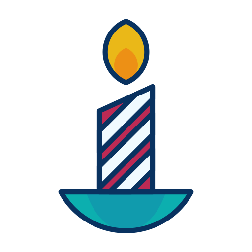 Fire, Candle, Flame, Decoration Icon