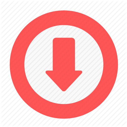 Arrow, Business, Circle, Decrease, Download, Downside, Office Icon