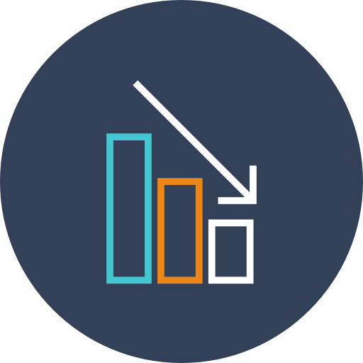 Graph, Bars, Decrease Icon Free Of Linear Finance Icons