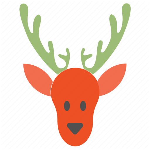 Deer, Head, Reindeer Icon