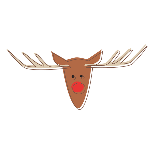 Reindeer Head Cartoon Icon