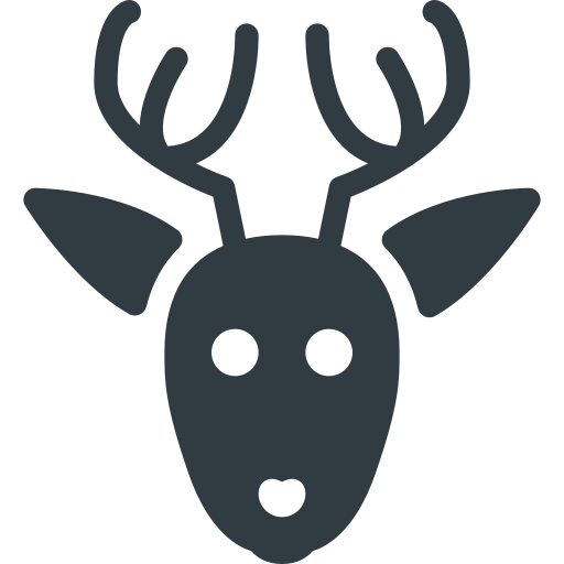 Rudolf, Deer, Christmas Icon Free Of Christmas Glyph