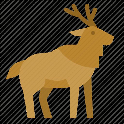Animals, Deer, Mammal, Moose, Zoo Icon