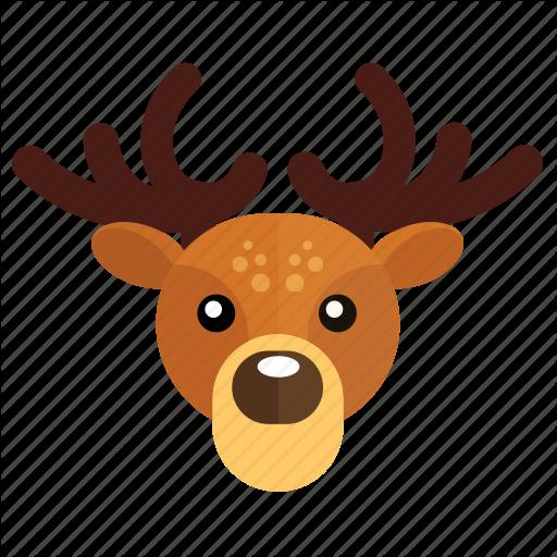 Christmas, Deer, New Year Icon