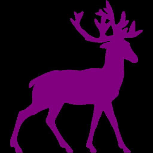 Purple Deer Icon