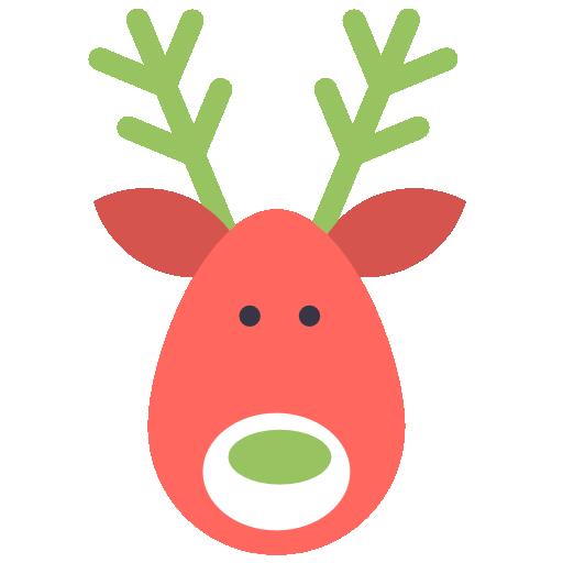 Reindeer Deer Icon Flat Christmas Iconset Psdblast