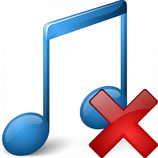 Iconexperience V Collection Music Blue Delete Icon