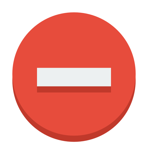 Sign Delete Icon Small Flat Iconset Paomedia