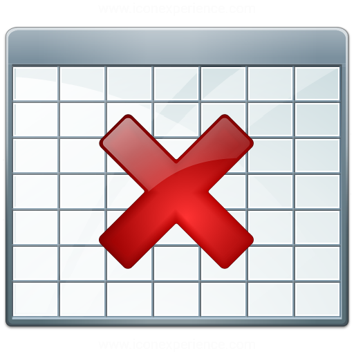 Iconexperience V Collection Table Delete Icon