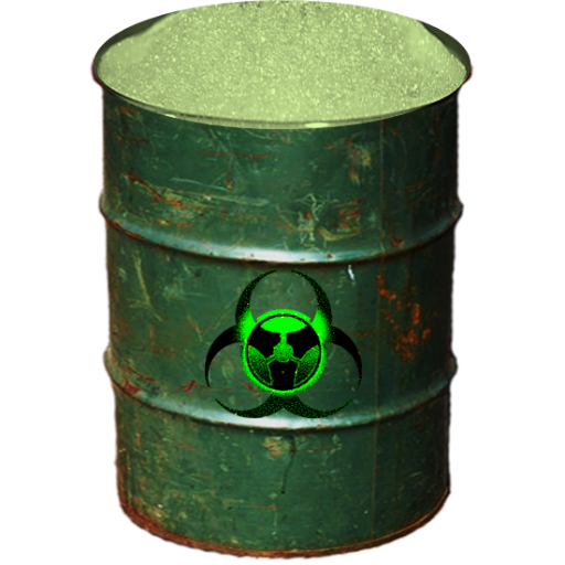 Biohazard Barrel Full Recycle Bn Icon