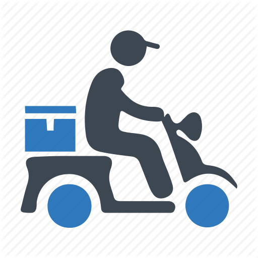 Boy, Courier, Delivery Icon
