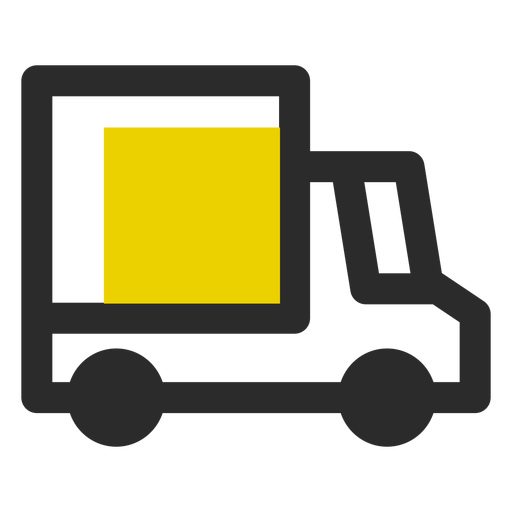 Delivery Truck Colored Stroke Icon
