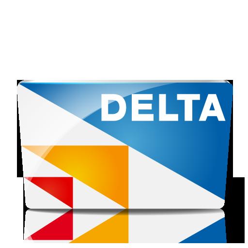 Delta Icon Credit Card Iconset Iconshock