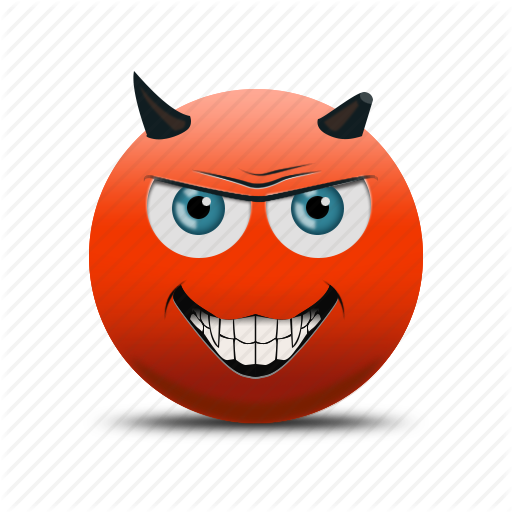 Demon Face, Devil, Devil Face, Emoji Icon