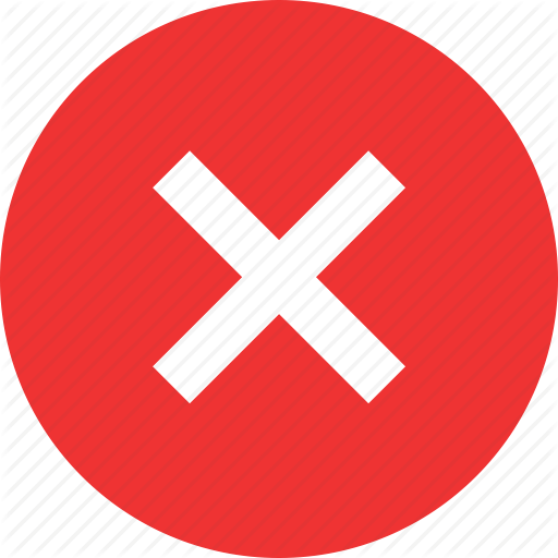 Cross, Delete, Denied, Stop, Stopped, X Icon