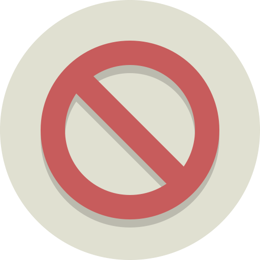 No Symbol, Block, No, Denied, Universal No, Stop Icon