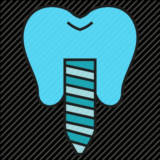 Care, Dental, Dental Implant, Implant, Prosthesis, Teeth, Tooth Icon