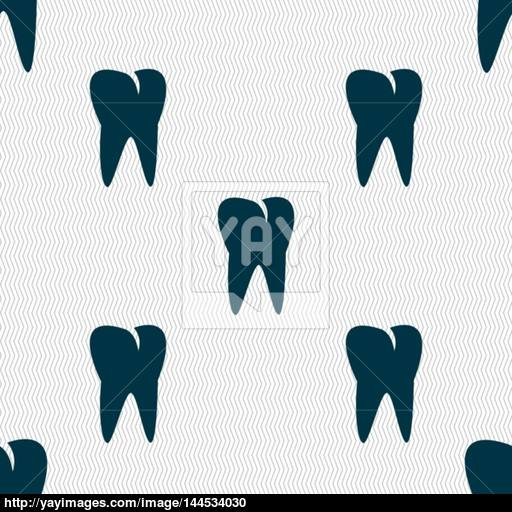 Tooth Icon Seamless Abstract Background With Geometric Shapes