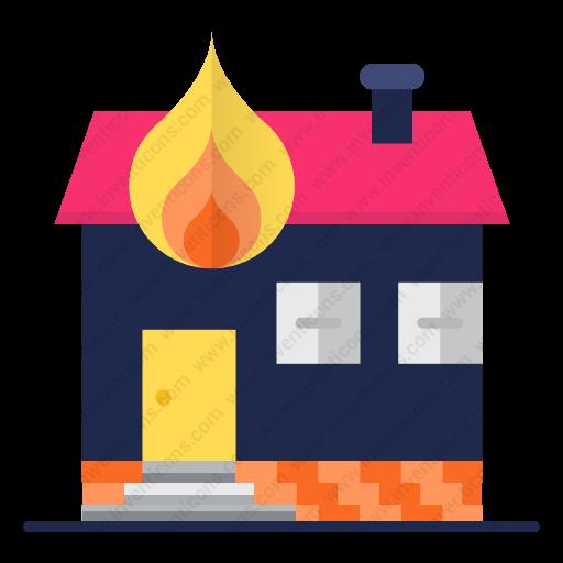 Download House,fire Icon Inventicons