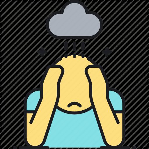 Depressed, Depression, Disorder, Sad Icon