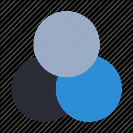 Agile, Bunch, Chart, Design Thinking, Scrum, Venn Icon
