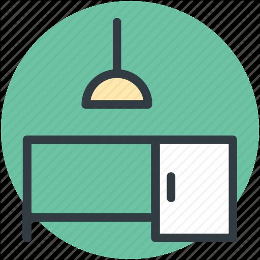 Bureau, Desk Drawer, Furniture, L Office Desk, Study Desk Icon