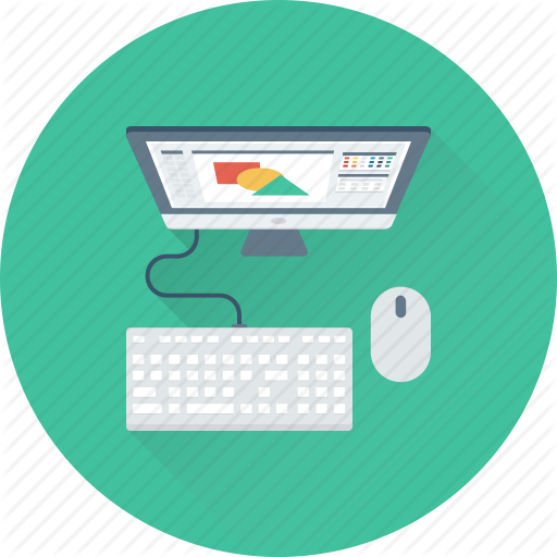 Computer, Designer, Desktop, Graphic Designing, Workstation Icon