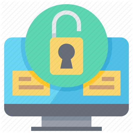 Computer, Data, Desktop, File, Key, Protection, Security Icon