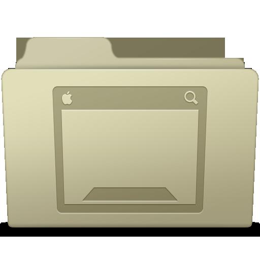 Desktop Folder Ash Icon Smooth Leopard Iconset Mcdo Design
