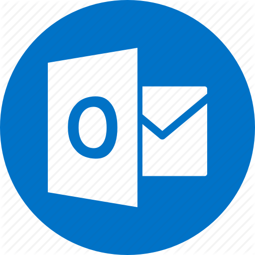 Circle, Document, File, Format, Microsoft, Outlook, Type Icon