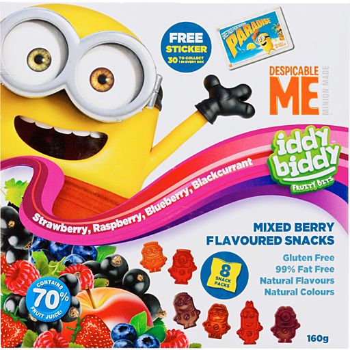 Despicable Me Iddy Bitty Fruity Bits Mixed Berry Flavoured Snacks