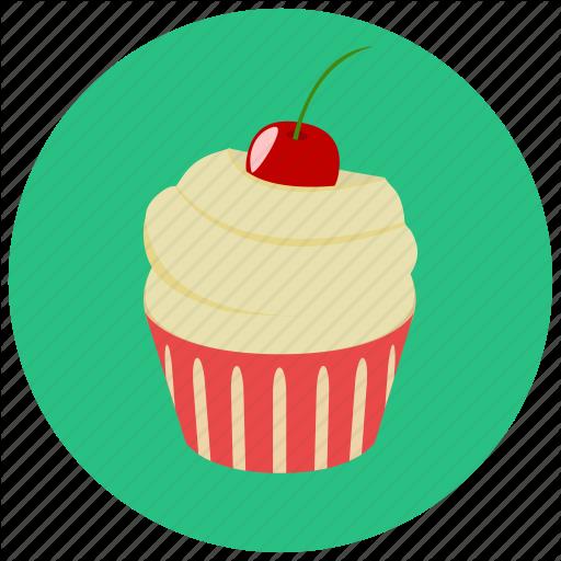 Cake, Cherry, Creamy, Cupcake, Dessert, Pastry, Sweet, Sweets Icon