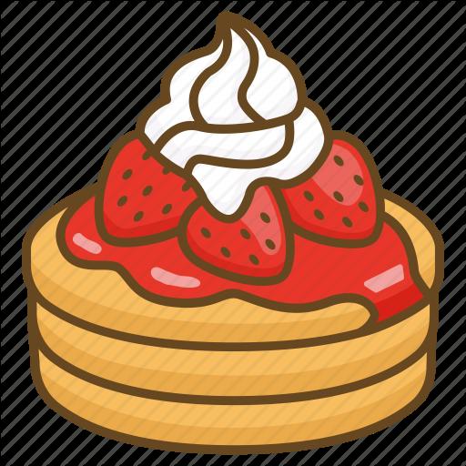 Cake, Cream, Dessert, Flapjacks, Pancake, Strawberries Icon