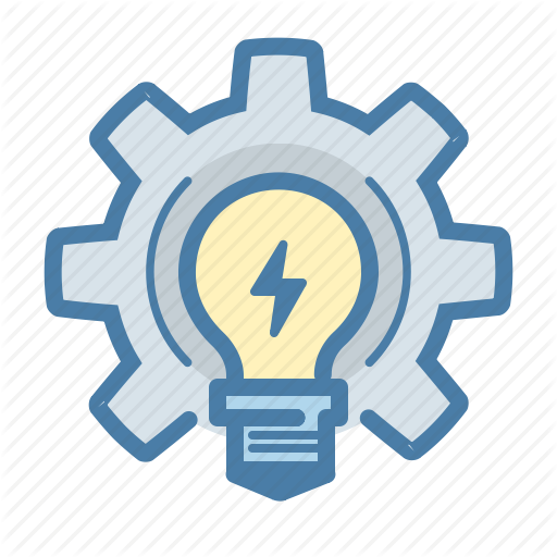 Bulb, Develop, Gear, Work On Idea Icon