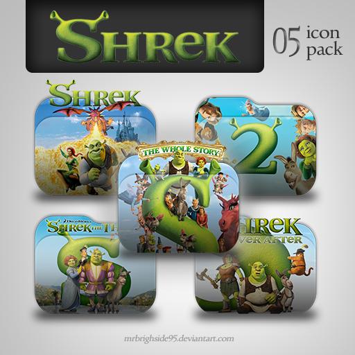 Shrek The Whole Story Folder Icon Pack