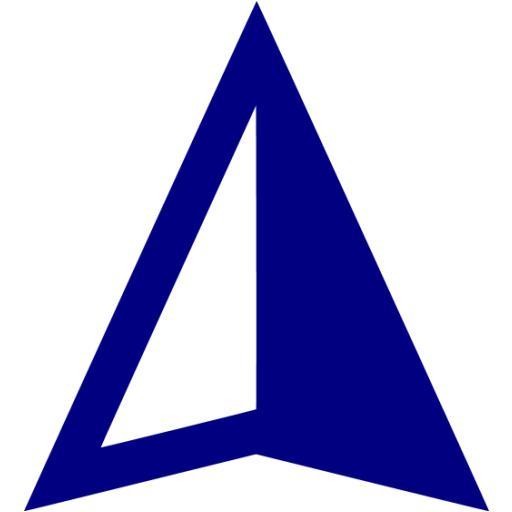 Navy Blue Gps Device Icon