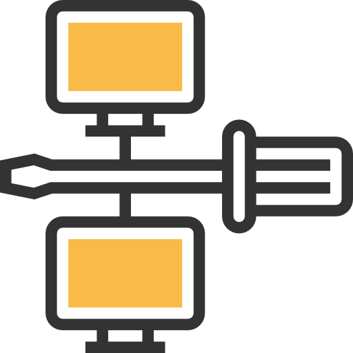 Screwdriver, Connection, Management, Network, Networking Icon