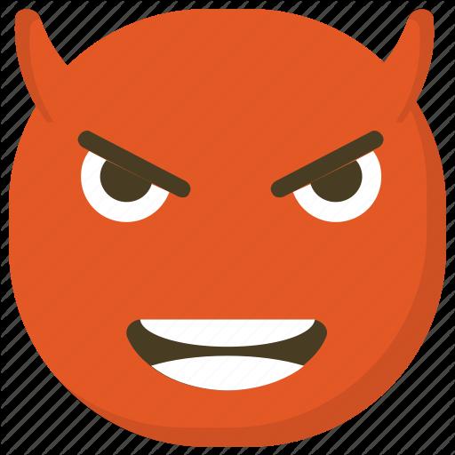 Angry Expressions, Devil Emoji, Devil Face, Devil Horns, Grinning