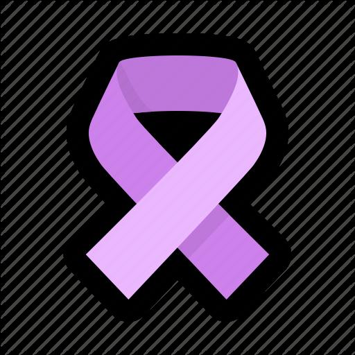 Awareness, Cancer, Carcinoma, Disease, Involving, Purple, Ribbon Icon