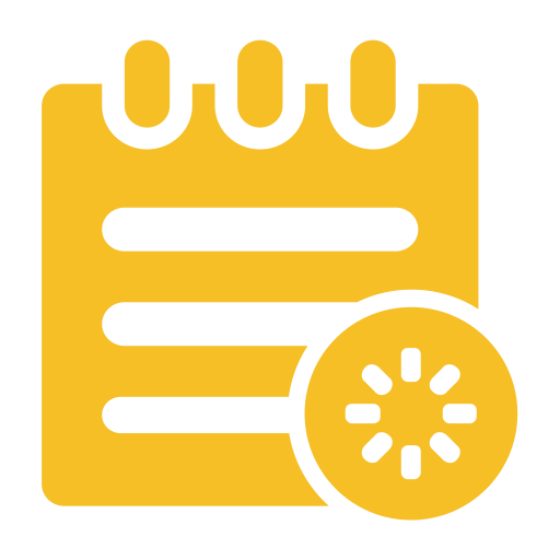 Schedule, Flat, Monochrome Icon With Png And Vector Format
