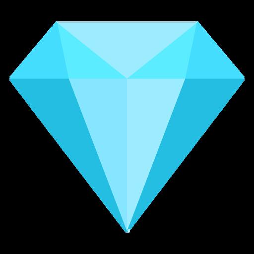 Blue Diamond Flat Icon